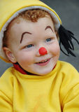 Happy Little Clown. Portrait of a little boy dressed as a clown Royalty Free Stock Photos