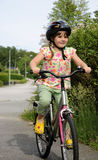 Happy little cyclist Stock Photography