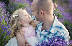 Happy little daughter and father Royalty Free Stock Images