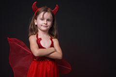Happy little devil. Royalty Free Stock Images