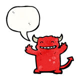happy little devil cartoon Royalty Free Stock Images