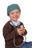 Happy little doctor Royalty Free Stock Photos