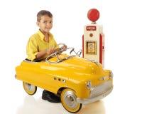 Happy Little Driver Stock Photo