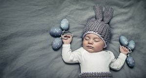 Happy little Easter bunny stock images