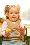 Happy little easter girl Stock Images
