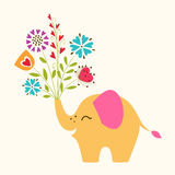 Happy little Elephant Royalty Free Stock Images