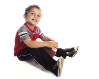 Happy Little Football Player Stock Photography
