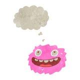 Happy little furball creature retro cartoon Royalty Free Stock Images