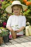 Happy little gardener Royalty Free Stock Images