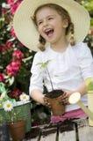 Happy little gardener Stock Images