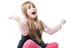 Happy little girl Royalty Free Stock Photos