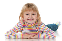 Happy little girl Stock Photos