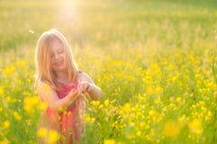 Happy little girl. Sweet happy little girl in park Stock Photography