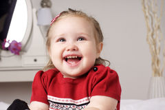 Happy little girl Stock Image