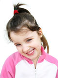 Happy little girl. Portrait of a little girl smiling Royalty Free Stock Photography