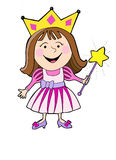 Cartoon princess color Royalty Free Stock Image