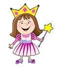 Cartoon princess color Royalty Free Stock Image