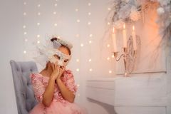 Free Happy Little Girl At Christmas Eve Royalty Free Stock Photos - 164379338