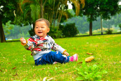 Happy little girl/baby(Asia, China, Chinese) Royalty Free Stock Photography