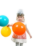 Happy Little Girl With Balloons Royalty Free Stock Photography