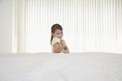 Happy Little Girl In Bedroom Royalty Free Stock Photo