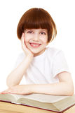 Happy little girl with a book Stock Image