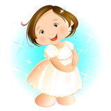 Happy Little Girl (brunette) Royalty Free Stock Images