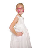 Happy little girl in butterfly face paint Royalty Free Stock Images