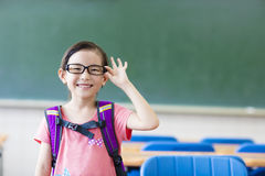 Happy little girl in the classroom Royalty Free Stock Photography