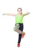 Happy little girl dancing hip-hop Stock Images