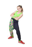 Happy little girl dancing hip-hop Stock Photography