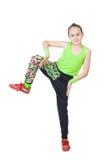 Happy little girl dancing  hip-hop Stock Image