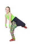 Happy little girl dancing hip-hop Royalty Free Stock Photo