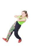 Happy little girl dancing hip-hop Stock Photo