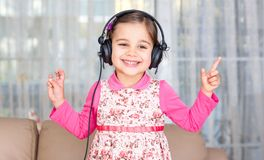 Happy Little Girl Dancing Stock Photography