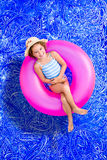 Happy little girl enjoying her summer vacation Stock Image