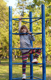 Happy little girl fun Royalty Free Stock Images