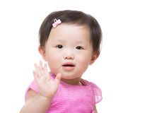 Happy little girl greeting Royalty Free Stock Photography