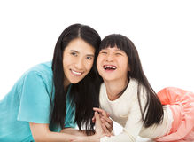 Happy little girl  with her mother Stock Photo