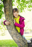 Happy Little Girl In The Park Royalty Free Stock Photo