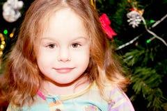 Happy little girl  indoor Stock Image
