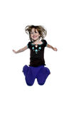 Happy Little Girl Jumping. This little girl is so happy she is jumping for joy Stock Photography