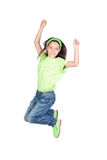 Happy little girl jumping Stock Photography