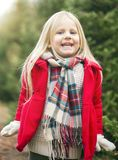 Portrait of playful girl royalty free stock photo