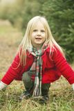Portrait of playful girl royalty free stock photography