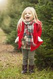 Portrait of playful girl royalty free stock image