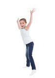 Happy little girl jumping. Stock Photography