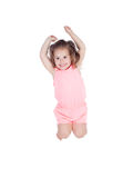 Happy little girl jumping Royalty Free Stock Photos