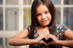 Happy little girl in love Royalty Free Stock Photo