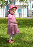 Happy little girl on the meadow Royalty Free Stock Images